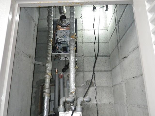 名古屋市中村区 給湯器施工 全体図