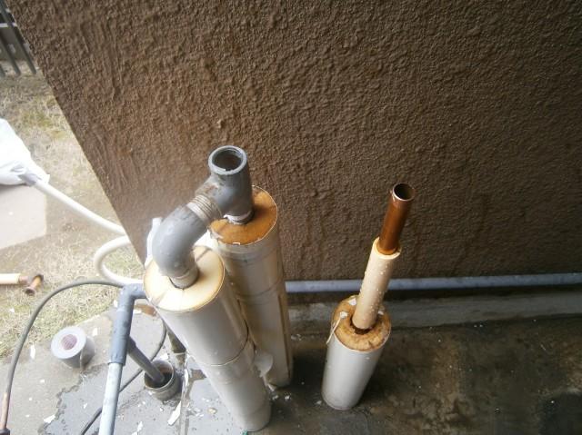 給湯器の配管接続前 江南市