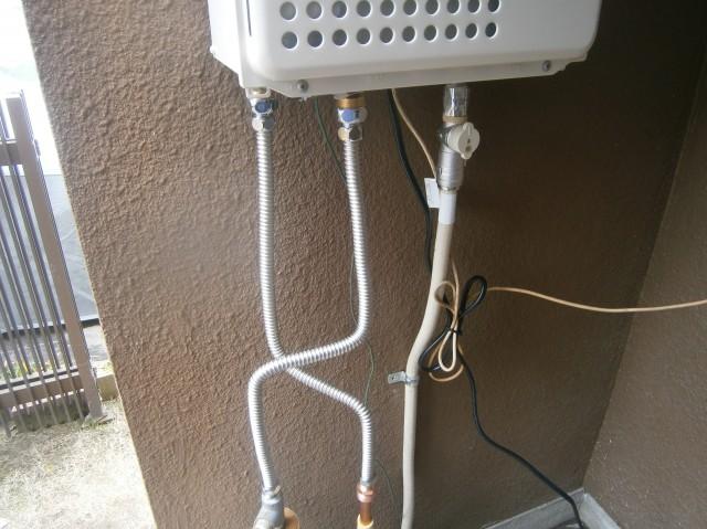 給湯器配管接続後 江南市