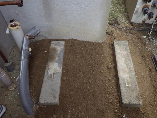 尾張旭市施工例 給湯器台座加工後