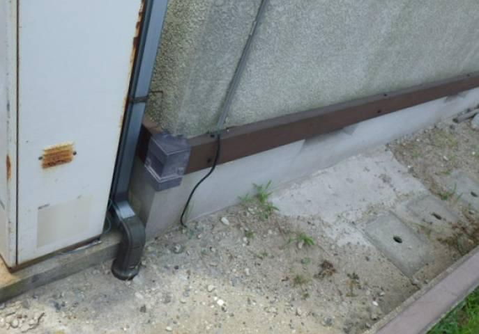 石油給湯器からガス給湯器工事 撤去後