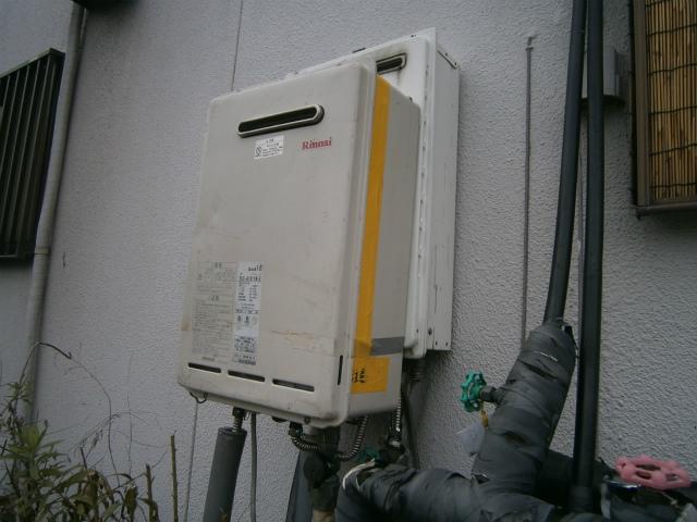ガス給湯器取替工事 仮設置