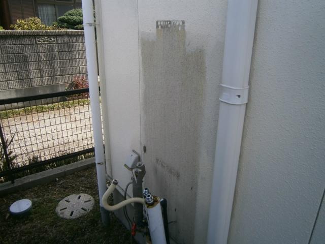 西尾市 ガス給湯器取替工事 撤去後