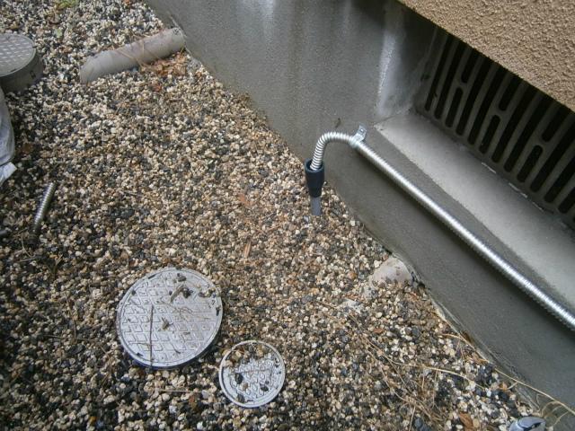 ガス給湯器取替工事 ドレン排水