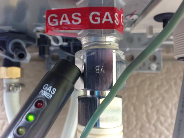 ガスふろ給湯器取替工事 ガスチェック