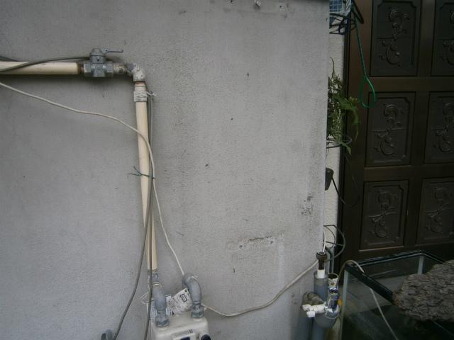ガス給湯器取替工事 撤去後
