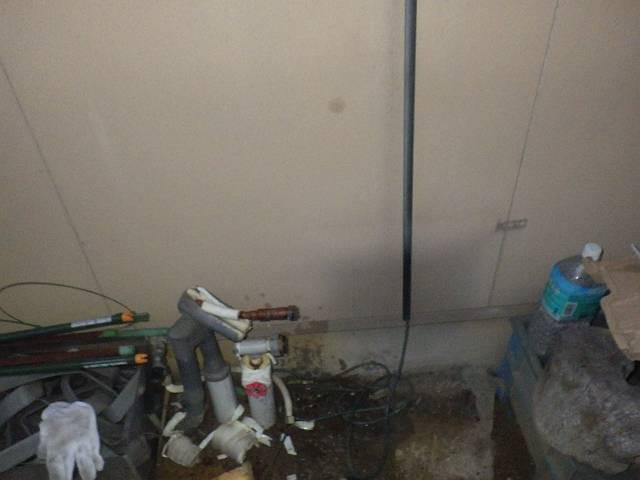 ガス給湯専用給湯器取替工事 施工中