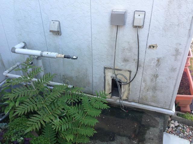 桑名市 ガス給湯器取替工事 撤去後