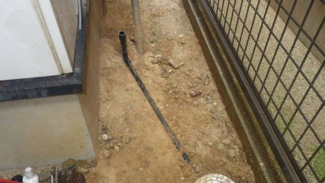 排水ドレン管施工後