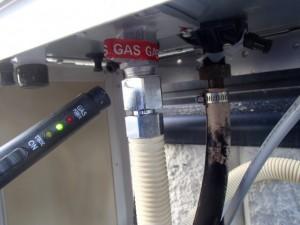 ガス漏れ確認