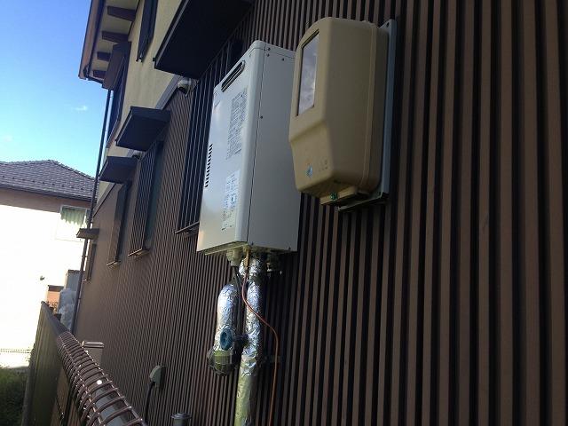岐阜県岐阜市 壁掛け石油給湯器 完成OTQ-G4702SAW