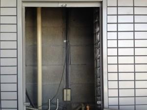 一宮市 ガスふろ給湯器 取替工事 施工事例 撤去後