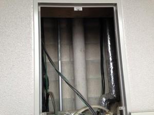 日進市 ガスふろ給湯器取替工事 施工事例 撤去後