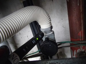 リンナイガスふろ給湯器取替工事(名古屋市中川区)ガス漏れチェック