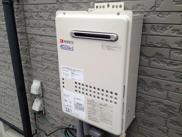 ガス給湯器取替工事(岐阜県可児市)完成GQ-C2434WS