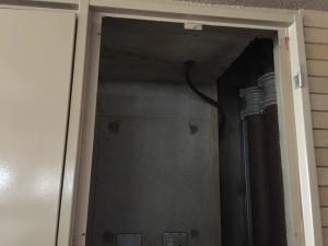 ガスふろ給湯器取替工事(名古屋市千種区)施工事例 撤去後