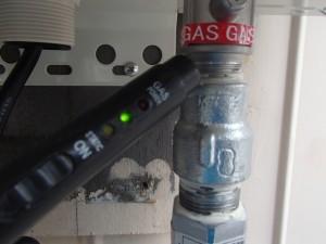 ノーリツガス給湯器取替工事(名古屋市南区岩戸町)ガス漏れチェック