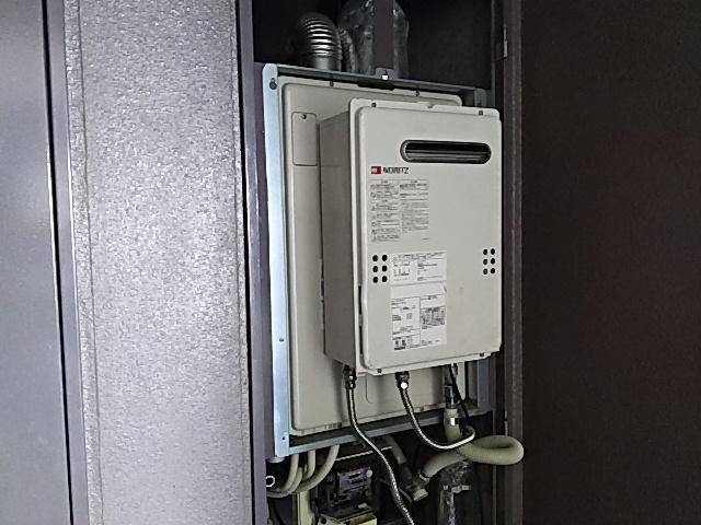 仮設置給湯器と既存RUFH-V2400FF2-3