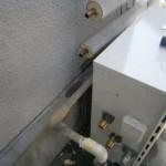 給湯器の配管施工後(名古屋市守山区)