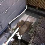 名古屋市昭和区ガスふろ給湯器取替工事 撤去後