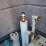 ガスふろ給湯器 配管準備中