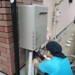 一宮市 ガス給湯器取替工事 施工中