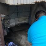 ガスふろ給湯器取替工事 施工中