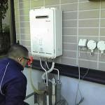 エコジョーズ取替工事 仮設置給湯器