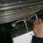 石油熱源専用機取替工事 配管中