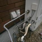 弥富市 ガス給湯器取替工事 施工中