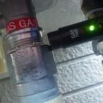 ガス漏れチェック中