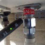 リンナイガスふろ給湯器取替工事(桑名市)ガス漏れチェック