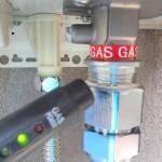 ノーリツエコジョーズガスふろ給湯器取替工事(名古屋市中川区)ガス漏れチェック
